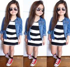 2015-new-girls-summer-clothing-sets-children-fashion-cotton-clothing-set-kids-stripe-dress-denim-jacket