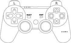 Playstation Controller clip art - vector clip art online, royalty ...