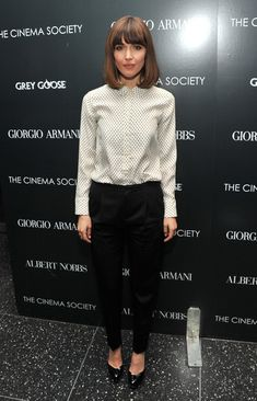 "Rose Byrne Photos: Giorgio Armani & The Cinema Society Host A Screening Of ""Albert Nobbs"" - Arrivals"