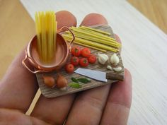 Miniature sculpted foods! They look yummy c: