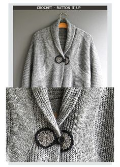 Needlecrafts - Crochet - Button it Up                All Garment Images |   Eva Utanum Sweaters       The plan for this week's post was ...