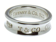 Classic Tiffany 1837 design in sterling silver 8mm wide Size 7 1/2 Retail price $200.00 Click here for the matching earrings Click here for the matching pendant