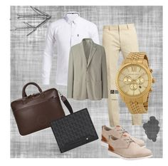 """Spring set"" by melani-fashion ❤ liked on Polyvore featuring Calvin Klein Collection, Uniqlo and Clarks"