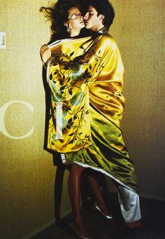 """""""Carmen Kass & Ivan De Pineda / Gucci S/S 2003 by Mario Testino """""""