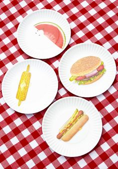 Perpetual Picnic Plate Set. Never run out of dishware again when you switch to these white melamine picnic plates by One Hundred 80 Degrees! #multi #modcloth