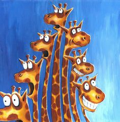 Giraffe expressions print from original by gabbogabbogabbo on Etsy