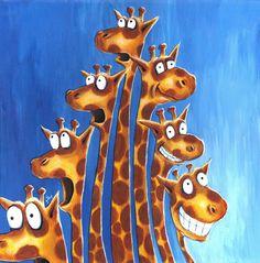 Giraffe expressions print from original by gabbogabbogabbo on Etsy