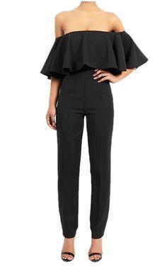 Black Off Shoulder Jumpsuit