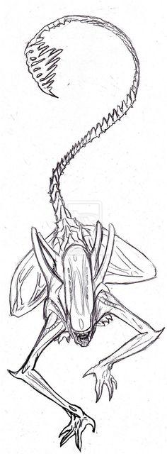 Картинки по запросу xenomorph tattoo