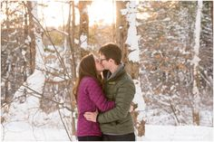 Kennedy Park - Winter Engagement Session in Lenox, MA - Tricia McCormack Photography