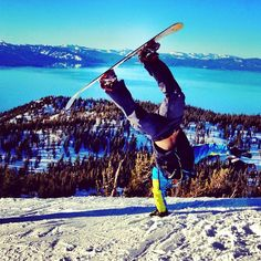 Standing on the sky in Tahoe Ski And Snowboard, Snowboarding, Skiing, Tahoe California, Reno Tahoe, Lake Tahoe, Nevada, Places To Visit, Boards