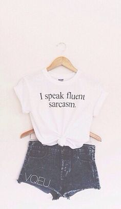 I speak fluent sarcasm Shirt/Muscle Tee Choose a shirt or a muscle tee! Super soft, good quality: SIZE AS— fits most (AN & AL AVAILIBLE UPON