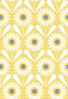 Sunny Flower by Layla Faye - Buttercup Yellow : Wallpaper Direct Hall Wallpaper, Kitchen Wallpaper, Grey Wallpaper, Flower Wallpaper, Pattern Wallpaper, Wallpaper Ideas, Yellow Bathroom Decor, Yellow Bathrooms, Bathroom Ideas