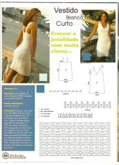 Crochet Patterns Dress Mini dress with fishnet waistMini-dress with an openwork level on a waist Beau Crochet, Gilet Crochet, Crochet Bra, Mode Crochet, Crochet Tunic, Crochet Woman, Crochet Beach Dress, Crochet Summer Dresses, Crochet Skirts