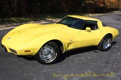 1978 Corvette Yellow Corvette - (Dad's awesome toy)