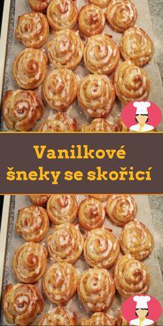 Vanilkové šneky se skoricí Breakfast, Food, Morning Coffee, Essen, Meals, Yemek, Eten