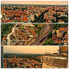 Buongiorno a tutti.....foto di @acconciature_donnagio e come amministratrice del profilo questa settimana pubblico la prima foto.....ho deciso di scattare da una insolita posizione....dal tetto del grattacielo di Ferrara. ....il panorama è da mozzafiato.....un collage che parla da se.... #myferrara #ferrara #igersferrara #comunediferrara