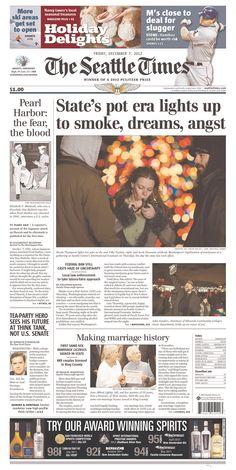 """Seattle Times proclaims Washington """"State's pot era..."""" Seattle Times, Emerald City, Washington State, Cant Wait, Tea Party, Tea Parties"""