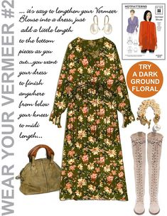 Vermeer blouse sewing pattern lengthened into a dress Early Fall Outfits, Fall Capsule, Capsule Wardrobe, Wardrobe Ideas, Fashion Sewing, Wardrobes, Sewing Patterns, Romantic, My Style