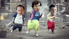 Mycroft, Sherlock, and John getting down (GIF) I don't understand you internet