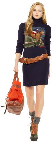 Polo Ralph Lauren Intarsia-Knit Sweater Dress...At first, I thought it was a really long ugly Christmas sweater.