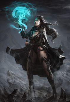 Sorceress by ~angel5art on deviantART