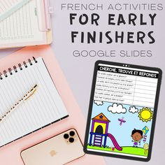 This resource includes 10 different activities for Google Slides for early finishers. You can access a FREE sample of these activities through my Free Virtual Library. These are ideal for remote/online learning or can be used in the classroom. Though these can be used for early finishers, they are a great addition to your reading and writing program, centers or can also be assigned for asynchronous work. Writing Programs, French Resources, Vocabulary Cards, Early Finishers, Winter Olympics, Blank Cards, Google, Classroom, Activities