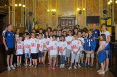 10 Giugno: giovani judoka in Municipio e in visita in città prima dell'amichevole di sabato con il Kyu Shin Do Kai Parma.