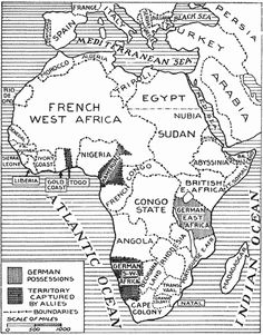 When the First World War started, Great Britain immediately attacked the German colonies in Africa, and conquered three of the four colonies in lightning campaigns. Only German East Africa (modern-day Tanzania, Burundi, and Rwanda) withstood the British attacks and held out for the duration of the war. The defence of German East African was organized by Colonel (later General) Lettow-Vorbeck. After the war Britain and France divided Germany's African empire between them.