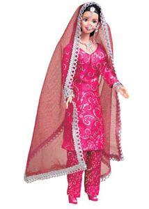 Barbie in punjabi suit Barbie Dress, Barbie Clothes, Barbie Barbie, Barbie Style, Bridal Lehngas, Dolly Doll, Indian Dolls, Barbie Collection, Barbie Friends