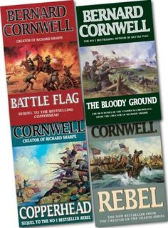 Starbuck Chronicles Collection 4 Books Set, historical fiction series by well known and popular British author, Bernard Cornwell. The series includes American Civil War novels like Copperhead, Battle Flag, Rebel, The Bloody Ground.