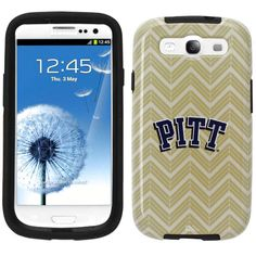 Pittsburgh Panthers Samsung Galaxy S3 Chevron Vibe Case - Gold - $14.24