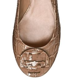 Can I please have these???? Croc Printed Reva Ballet Flat   Womens All Revas   ToryBurch.com