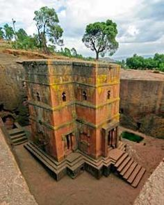 Lalibela in Ethiopia to see the churches cut into the ground (they didn't dig a hole and build the churches in the hole, they dug the churches)