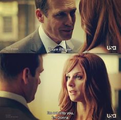 the only woman to say she wasnt into mr harvey specter ... for awhile anyway