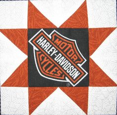 Quilt to the Edge: Debriefing the Boxer-Another Harley Davidson Quilt!!