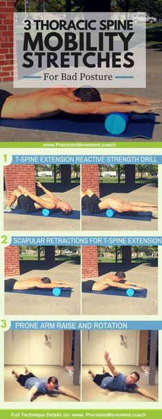 These exercises do more than just help prevent a hunchback – they will also help prevent pain throughout your back and your body by addressing the muscular weaknesses that are making T-spine issues al thoracic back pain Fitness Workouts, Easy Workouts, At Home Workouts, Cardio Gym, Back Pain Exercises, Stretching Exercises, Kyphosis Exercises, Shoulder Mobility Exercises, Thoracic Spine Mobility