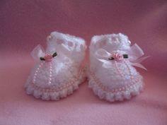 Free Crochet Baby Dress Patterns | Free Knitting Patterns For Baby Booties 150x150 Free Knitting Patterns ...
