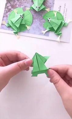 Diy Crafts Hacks, Diy Crafts For Gifts, Easy Diy Crafts, Crafts To Make, Jar Crafts, Paper Crafts Origami, Paper Crafts For Kids, Diy For Kids, Origami Paper Folding