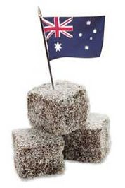 I first tried Lamingtons with my girl scout troop when we represented Australia for Thinking Day. Australian Party, Australian Christmas, Australian Food, Australian Recipes, Lamingtons Recipe, Australia Day Celebrations, Aussie Food, World Thinking Day, International Recipes