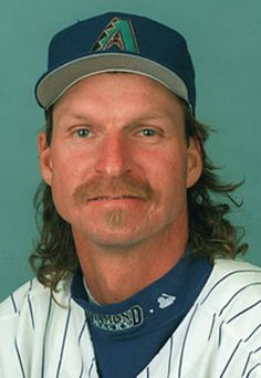 Randy Johnson, one of the most intimidating pitchers in the history of the game