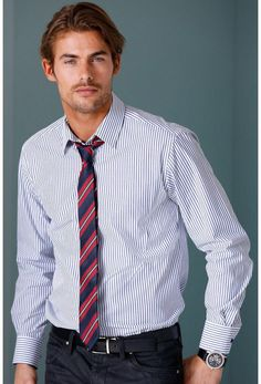Camisa y corbata - bajo ligeramente redondeado - ELLOS