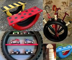 20 different ways to use old tires. I'd paint some of the ideas to get a better look.