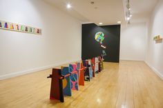 'Objects- More Expansion' April 2014 Painting installation - Customs House, South Shields, Uk