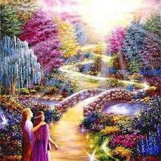 21 Signs of Spiritual Awakening (this beautiful artwork is by the visionary artist Duguay) Akiane Kramarik Paintings, Image Jesus, Heaven Painting, Heaven Art, Beau Gif, Mario, Prophetic Art, Jesus Pictures, New Earth