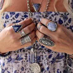 #Boho# Vintage Womens Rhinestone Silver Carved Totem Band Finger Ring Jewelry