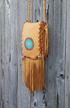 Beaded hippie purse Fringed leather handbag by thunderrose Leather Clutch, Leather Purses, Leather Handbags, Leather Bags Handmade, Leather Craft, Hippie Purse, Round Bag, Boho Bags, Leather Pattern