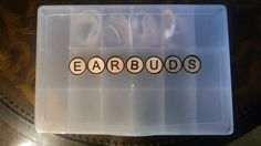 I love this earbud storage idea and the container is only $1.99 at Hobby Lobby...How great!