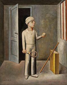 Carlo Carrà Il figlio del costruttore, 1917-21 Olio su tela, cm 121 x 95  Collezione privata - Opera in mostra