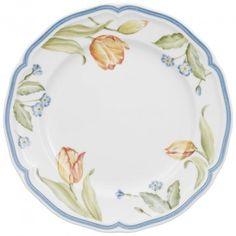 Flower Dream tulip breakfast plate, porcelain by Villeroy&Boch